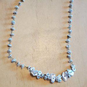 "18"" Natural Keshi Pearl Strand Necklace Elegant"